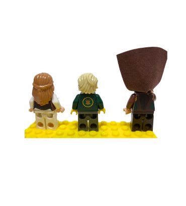 Cutting and Shaping for Éowyn and Lloyd Minifigures